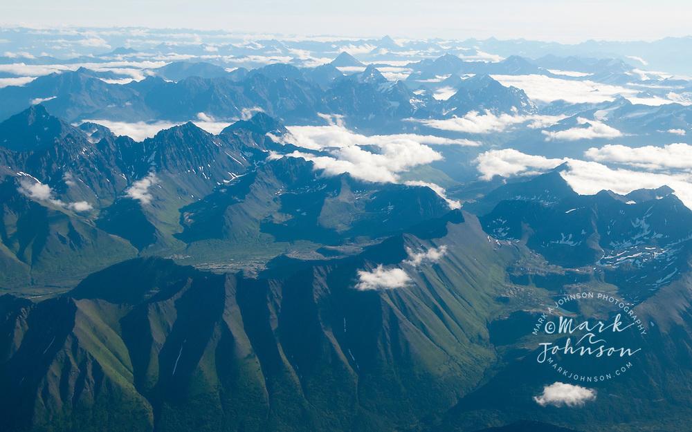 Aerial view of Wrangell-St. Elias National Park, Alaska
