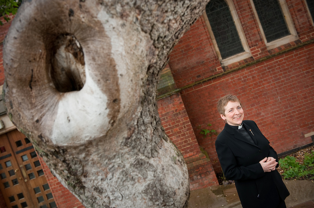 The Reverend Marjorie Brown, the vicar at St. Mary's Church in Primrose Hill, London, UK.