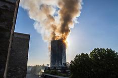 London: Tower block fire - 14 June 2017