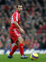 Photo: Paul Thomas.<br /> Liverpool v Sheffield United. The Barclays Premiership. 24/02/2007.<br /> <br /> Javier Mascherano of Liverpool.