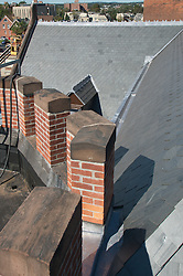 Fairfield County Courthouse GA 2 Renovations. Replace Roof and Masonry Repairs CT Dept of Public Works Project # BI-JD-305. Interim Progress Photography Shoot 4.5: 7 October 2011. Located on Golden Hill Streets in Bridgeport CT, this Richardsonian Romanesque style public building, was designed by Warren R. Briggs. Originally completed and opened in 1888 and has undergone several additions and expansions since.