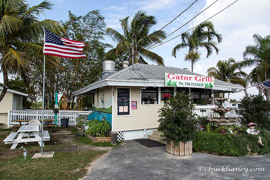 Food shack that serves up alligator on the menu near Homestead, Florida, USA