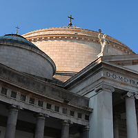 Basilica di San Francesco di Paola, Piazza del Plebiscito, Napoli, inspired by the famous roman church Pantheon and built from 1816 to 1846 by the Architect Pietro Bianchi. It was consacrated that same year.
