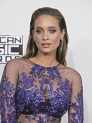 November 20, 2016 - Los Angeles, California, U.S - Hannah Davis on the Red Carpet of the 2016 American Music  Awards held on Sunday, November 20, 2016 at the Microsoft  Theatre in Los Angeles, California. (Credit Image: © Prensa Internacional via ZUMA Wire)