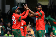 Wicket - Mustafizur Rahman of Bangladesh celebrates taking the wicket of Haris Sohail of Pakistan during the ICC Cricket World Cup 2019 match between Pakistan and Bangladesh at Lord's Cricket Ground, St John's Wood, United Kingdom on 5 July 2019.