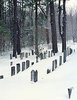 Chesham Cemetary in winter, Chesham, New Hampshire.