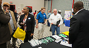 Vendors meet with contractors during a Construction Manager at Risk (CMAR) event at the George R. Brown Convention Center, January 13, 2014.