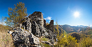Ruins of a medieval Bulgarian fortress of 10-th sanctuary