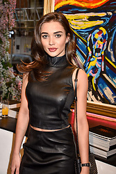 Amy Jackson at a private view of work by Bradley Theodore entitled 'The Second Coming' at the Maddox Gallery, 9 Maddox Street, London England. 19 April 2017.