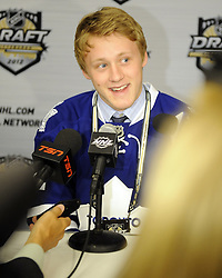 Morgan Reilly of the Moose Jaw Warriors was the fifth overall pick of the Toronto Maple Leafs in the 2012 NHL Entry Draft in Pittsburgh, PA on Friday June 22. Photo by Aaron Bell/CHL Images
