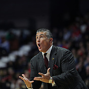 Frank Martin, South Carolina Head Coach in action on the sideline during the St. John's vs South Carolina Men's College Basketball game in the Hall of Fame Shootout Tournament at Mohegan Sun Arena, Uncasville, Connecticut, USA. 22nd December 2015. Photo Tim Clayton