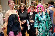 SILVIA ZIRANEK;  JANET NATHAN; JANE ENGLAND; ZANDRA RHODES, Tate Britain Summer party. Tate. Millbank. 27 June 2011. <br /> <br />  , -DO NOT ARCHIVE-© Copyright Photograph by Dafydd Jones. 248 Clapham Rd. London SW9 0PZ. Tel 0207 820 0771. www.dafjones.com.