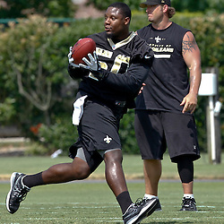 June 5, 2012; Metairie, LA, USA; New Orleans Saints linebacker Curtis Lofton (50) during a minicamp session at the team's practice facility. Mandatory Credit: Derick E. Hingle-US PRESSWIRE