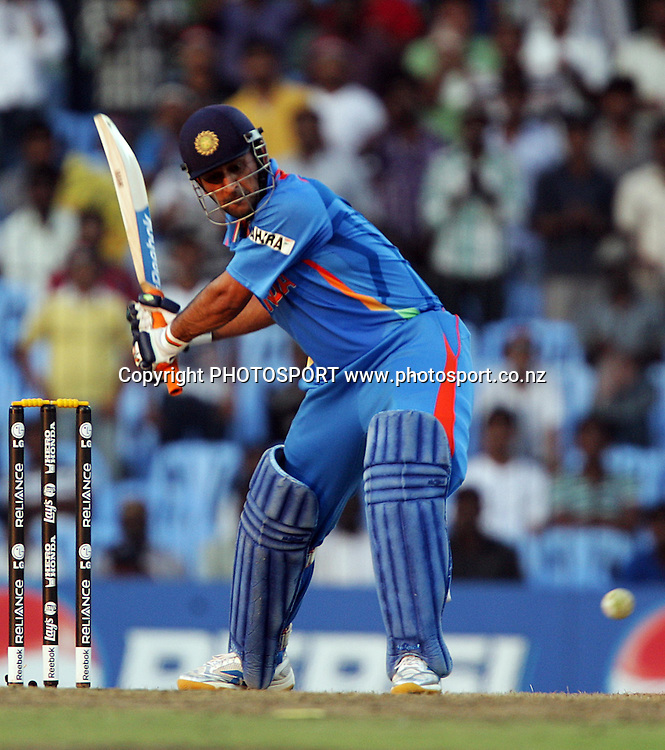 MS Dhoni batting during the India v New Zealand 2011 ICC World Cup Warm up game. MA Chidambaram Stadium, Chennai, India. 16 February 2011. Photo: photosport.co.nz
