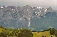 Looking towards the Tennengebirge from Mitterfeldalm, Salzburger Almenweg, Salzburgerland, Austria © Rudolf Abraham