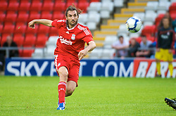 LEIGH, ENGLAND - Thursday, August 27, 2009: Liverpool's new signing Sotirios Kyrgiakos makes his first start for the Reds as the Reserves take on Blackburn Rovers Reserves at the Leigh Sports Village. (Photo by Bernard Platt/Propaganda)