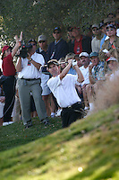 12 December 2004: Padraig Harrington (Ireland) off the green at hole 18 during the 2004 Target World Challenge Presented by Williams held at the Sherwood Country Club in Thousand Oaks, CA.  Mandatory Credit:  Shelly Castellano/ICON SMI<br />