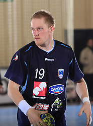 Miha Zvizej at handball match of 5th Round of qualifications for EHF Euro 2010 in Austria between National team of Slovenia vs Bulgaria, on November 30, 2008 in Velenje, Slovenia. (Photo by Vid Ponikvar / Sportida)