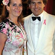 NLD/Amsterdam/20080929 - Pink Ribbon gala 2008, Toine van Peperstraten en partner martine Willekens