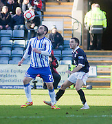 Kilmarnock's Rory McKeown and Dundee's Jamie McCluskey - Dundee v Kilmarnock, William Hill Scottish FA Cup 4th Round,..- © David Young - .5 Foundry Place - .Monifieth - .DD5 4BB - .Telephone 07765 252616 - .email; davidyoungphoto@gmail.com - .web; www.davidyoungphoto.co.uk.