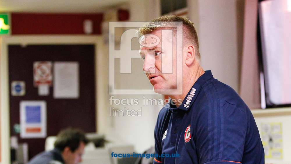 Brentford Head Coach Dean Smith speaks to the press after the Sky Bet Championship match between Sheffield United and Brentford at Bramall Lane, Sheffield<br /> Picture by Mark D Fuller/Focus Images Ltd +44 7774 216216<br /> 05/08/2017