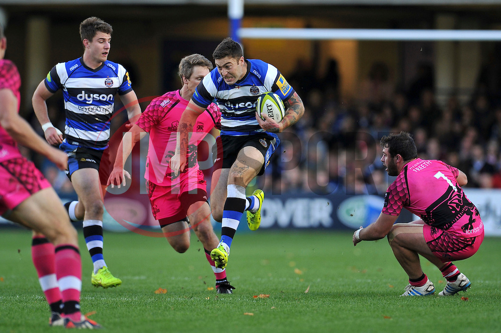 Matt Banahan of Bath Rugby - Photo mandatory by-line: Patrick Khachfe/JMP - Mobile: 07966 386802 01/11/2014 - SPORT - RUGBY UNION - Bath - The Recreation Ground - Bath Rugby v London Welsh - LV= Cup