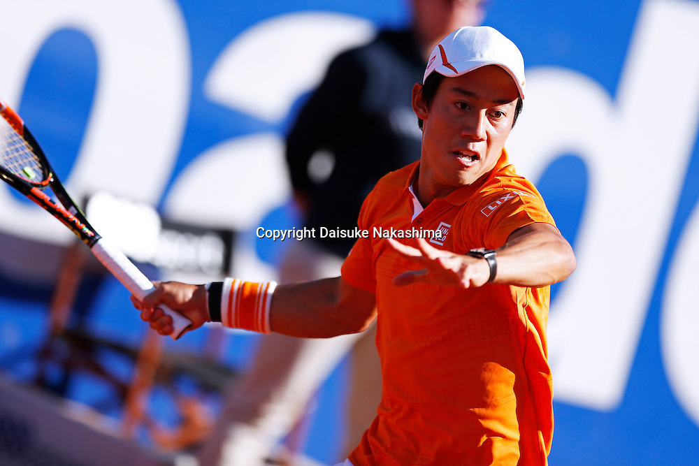 Kei Nishikori (JPN), APRIL 24, 2016 - Tennis : The ATP 500 World Tour Barcelona Open Banco Sabadell tennis tournament during mens singls final match between Rafael Nadal and Kei Nishikori at the Real Club de Tenis in Barcelona, Spain, (Photo by D.Nakashima/AFLO)