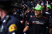 DALLAS, TX - MARCH 14:  Rafael Dos Anjos walks to the octagon before fighting UFC lightweight champion Anthony Pettis during UFC 185 at the American Airlines Center on March 14, 2015 in Dallas, Texas. (Photo by Cooper Neill/Zuffa LLC/Zuffa LLC via Getty Images) *** Local Caption *** Rafael Dos Anjos