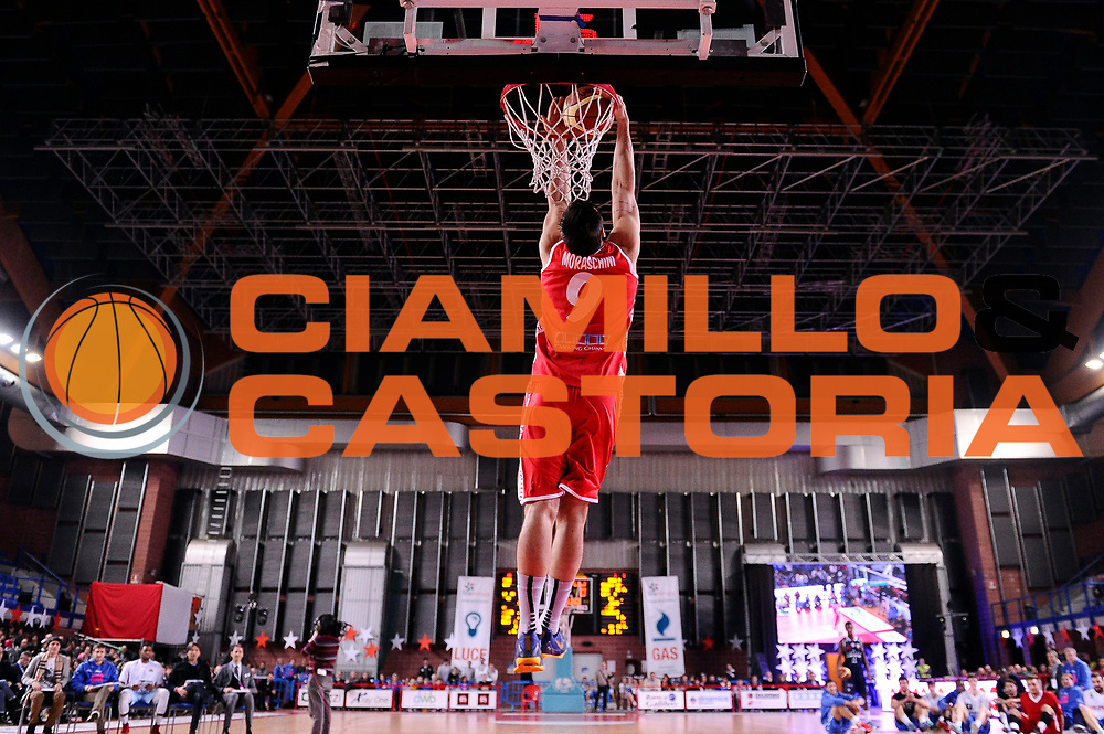 DESCRIZIONE : Mantova LNP 2014-15 All Star Game 2015 - Gara delle schiacciate<br /> GIOCATORE : Riccardo Moraschini<br /> CATEGORIA : schiacciata<br /> EVENTO : All Star Game LNP 2015<br /> GARA : All Star Game LNP 2015<br /> DATA : 06/01/2015<br /> SPORT : Pallacanestro <br /> AUTORE : Agenzia Ciamillo-Castoria/Max.Ceretti<br /> Galleria : LNP 2014-2015 <br /> Fotonotizia : Mantova LNP 2014-15 All Star game 2015