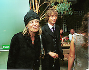 Anita Pallenberg and Dan Macmillan. Jade Jagger party. St. Martin's Hotel, London. 20/9/99.  © Copyright Photograph by Dafydd Jones 66 Stockwell Park Rd. London SW9 0DA  Tel 0171 733 0108
