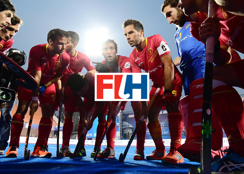 Odisha Men's Hockey World League Final Bhubaneswar 2017<br /> Match id:13<br /> Spain v Australia<br /> Foto: Line Up<br /> COPYRIGHT WORLDSPORTPICS FRANK UIJLENBROEK