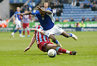 Photo: Steve Bond/Richard Lane Photography. Leicester City v Scunthorpe United. Coca Cola Championship. 13/02/2010. Lloyd Dyer is fouled, leading to goal no3