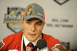 Cody Ceci of the Ottawa 67's was a first round pick of the Ottawa Senators  in the 2012 NHL Entry Draft in Pittsburgh, PA on Friday June 22. Photo by Aaron Bell/CHL Images