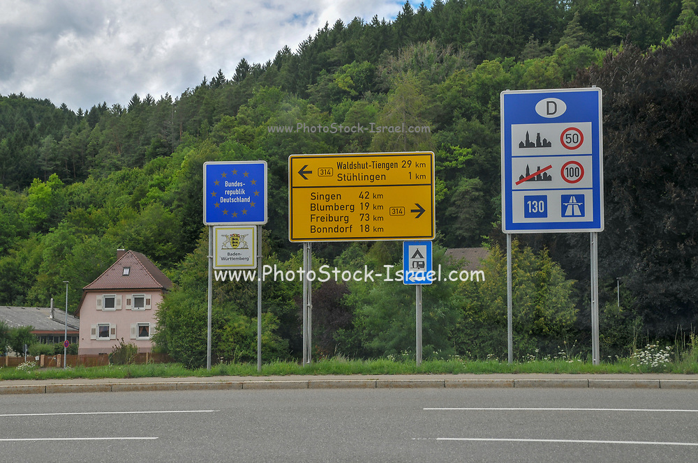 Rural Switzerland on the border with Germany