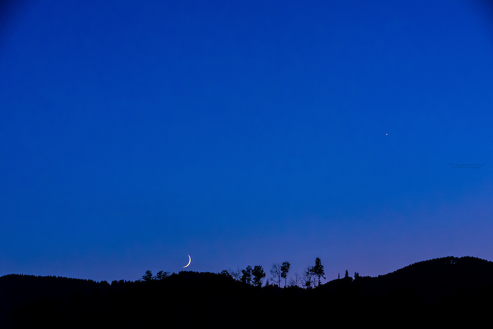 The setting moon, Snowmass Village (Aspen), Colorado USA.