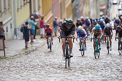 Emilia Fahlin (SWE) battles up the Meerane Wall at Lotto Thuringen Ladies Tour 2018 - Stage 4, a 118 km road race starting and finishing in Gera, Germany on May 31, 2018. Photo by Sean Robinson/Velofocus.com