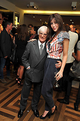 BERNIE ECCLESTONE and DAISY LOWE at a party hosted by Petra Ecclestone at Matches, 87 Marylebone High Street, London on 7th September 2009.