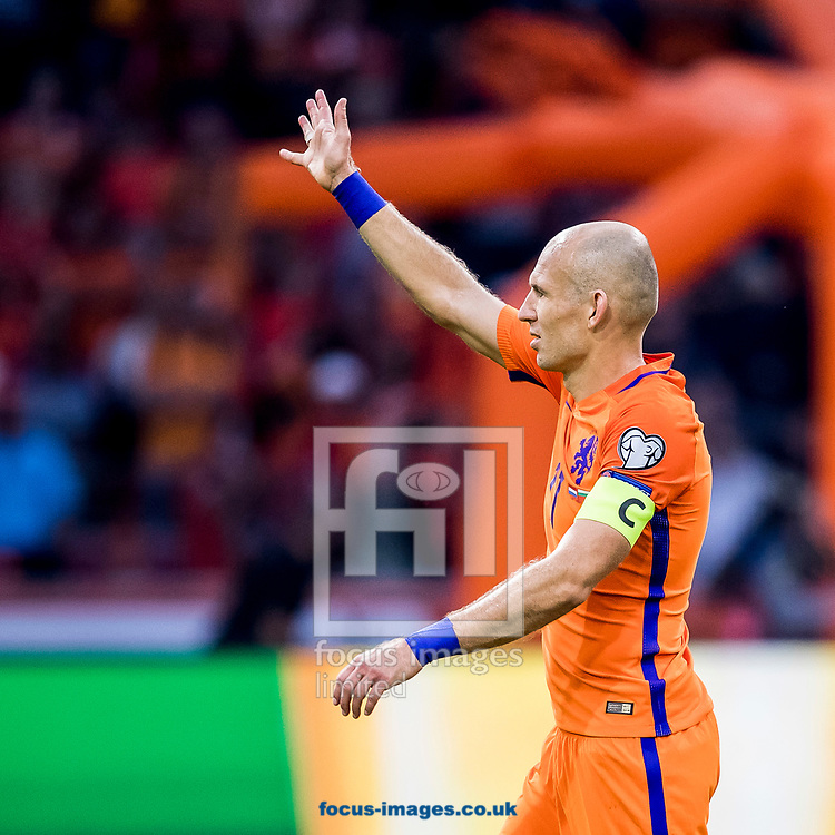 Arjen Robben of Netherlands after the 2018 FIFA World Cup Qualifying match at Amsterdam Arena, Amsterdam<br /> Picture by Joep Joseph Leenen/Focus Images Ltd +316 5261929<br /> 03/09/2017<br /> ***NETHERLANDS OUT***