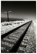 Railroad Tracks Along The Coast Of California