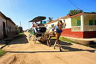 Coche de caballos in Cruces, Cienfuegos Province, Cuba.