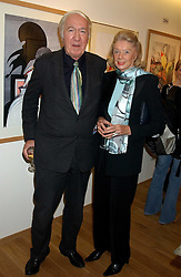 ANDREW & SONIA SINCLAIR at a party to celebrate the publication of Drawing Blood -Forty-Five Years of Scarfe Uncensored, a book of Gerald Scarfe's work held at The Fine Arts Society, New Bond Street, London on 3rd November 2005.<br />