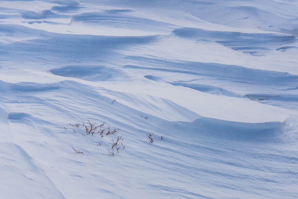 A picture of the wind blown snow.<br />