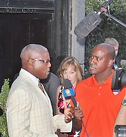 LONDON - July 26: Carl Lewis at the U.S. Olympic Committee Benefit Gala (Photo by Brett D. Cove)