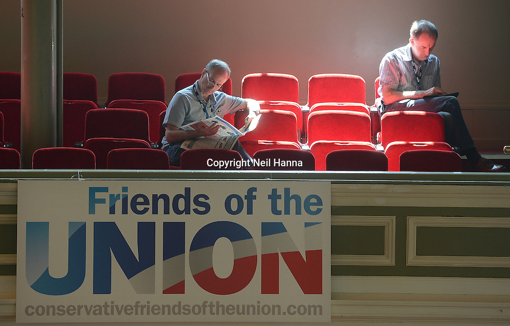 Scottish Conservative Party Conference 2013, The Albert Halls, Stirling<br /> Down time at the Conference<br /> Pic Neil Hanna