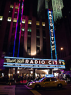 While working on a time piece film for HBO, we charged the marque of Radio City.