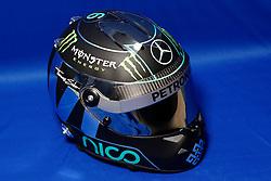 FIA Formula One World Championship 2014, Tests in Jerez de la Frontera, helmet of Nico Rosberg (GER, Mercedes AMG Petronas F1 Team) *** Local Caption *** © pixathlon