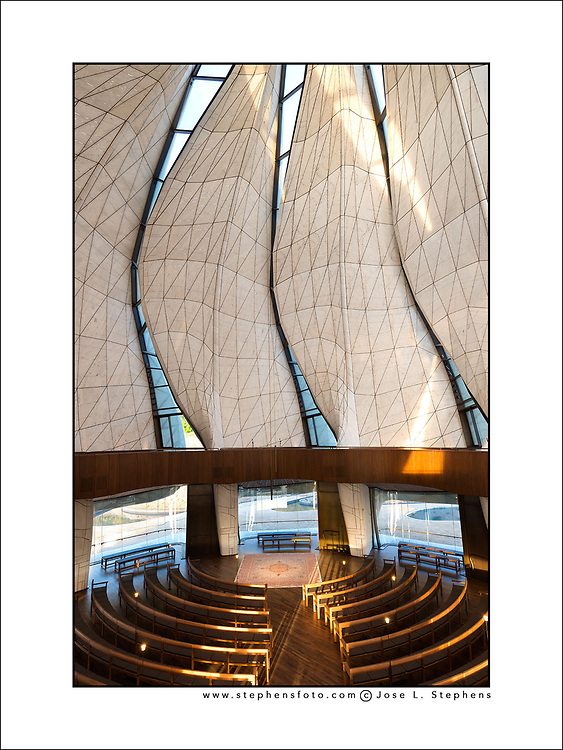 Interior architecture of the Bahá´í Temple of South America in Santiago de Chile