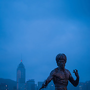 Bruce Lee statue on Avenue of the Stars, Hong Kong