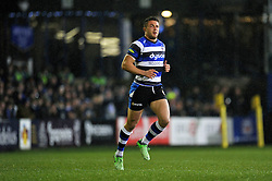 Sam Burgess of Bath Rugby runs onto the field to make his Bath and rugby union debut - Photo mandatory by-line: Patrick Khachfe/JMP - Mobile: 07966 386802 28/11/2014 - SPORT - RUGBY UNION - Bath - The Recreation Ground - Bath Rugby v Harlequins - Aviva Premiership