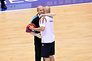 DESCRIZIONE : Trieste Nazionale Italia Uomini Torneo internazionale Italia Serbia Italy Serbia<br /> GIOCATORE : Guerrino Cerebuch Arbitro Aleksandar Sasha Djordjevic<br /> CATEGORIA : Pregame Fairplay Arbitro<br /> SQUADRA : Arbitro Serbia Serbia<br /> EVENTO : Torneo Internazionale Trieste<br /> GARA : Italia Serbia Italy Serbia<br /> DATA : 05/08/2014<br /> SPORT : Pallacanestro<br /> AUTORE : Agenzia Ciamillo-Castoria/Max.Ceretti<br /> Galleria : FIP Nazionali 2014<br /> Fotonotizia : Trieste Nazionale Italia Uomini Torneo internazionale Italia Serbia Italy Serbia